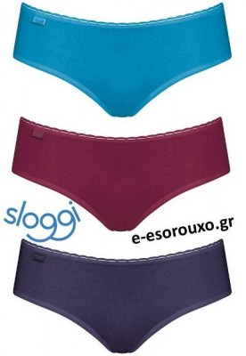 Sloggi Daily Cotton H Hipster 3τεμ